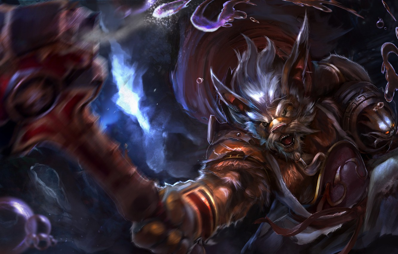 Photo wallpaper art, beast, Dota 2, Mangix, Brewmaster, TrungTH
