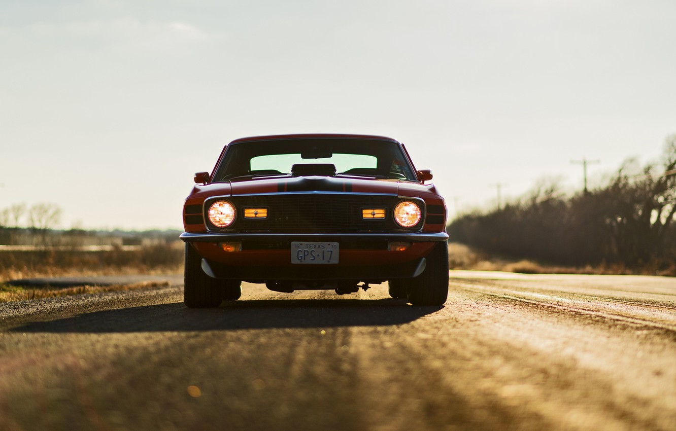 Photo wallpaper Mustang, Ford, Ford, Mustang, Mach 1, Muscle Car