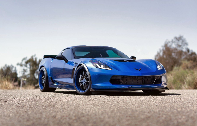 Photo wallpaper Corvette, Chevrolet, Wheels, Strasse, Z07