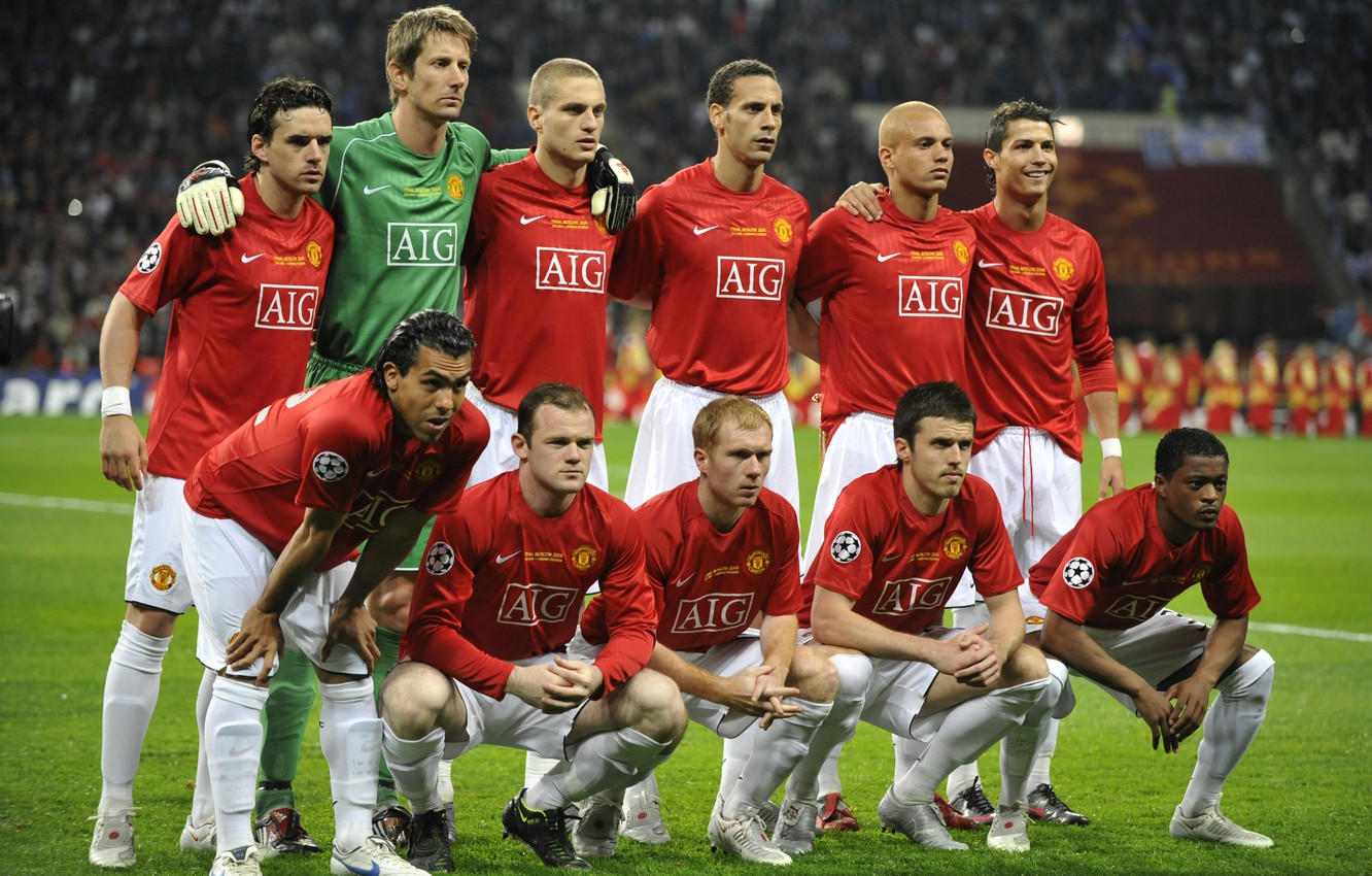 Wallpaper Cristiano Ronaldo Rooney Manchester United Old