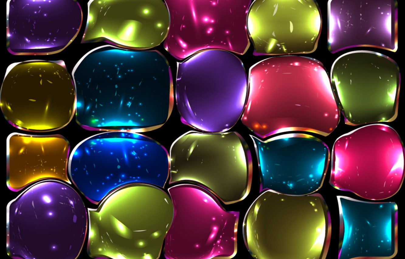 Wallpaper Glass Mosaic Colors Colorful Abstract Stained