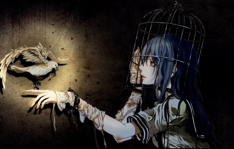 Photo wallpaper girls, on the desktop, Gothic elements, Wallpaper anime