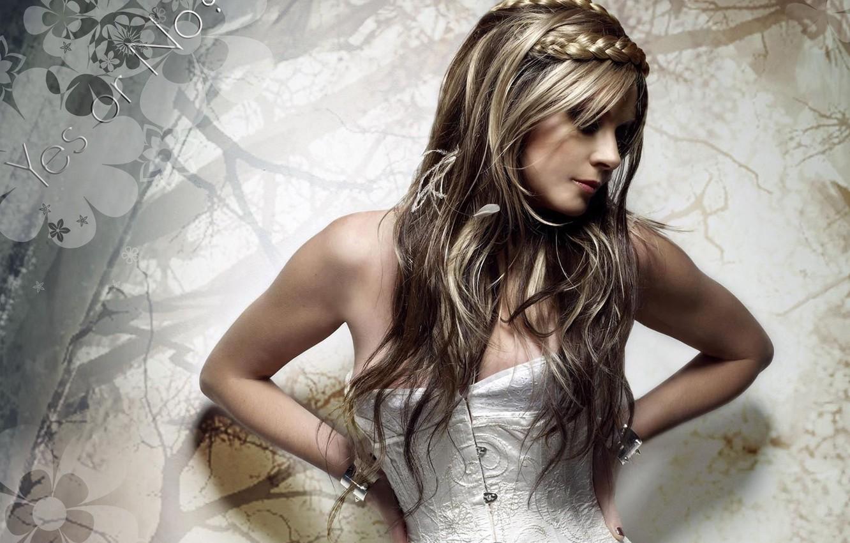 Photo wallpaper braids, corset, Sarah Brightman