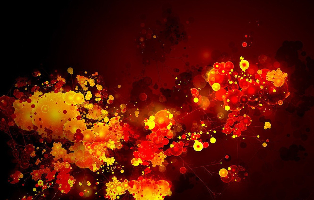 Photo wallpaper leaves, bright colors, color