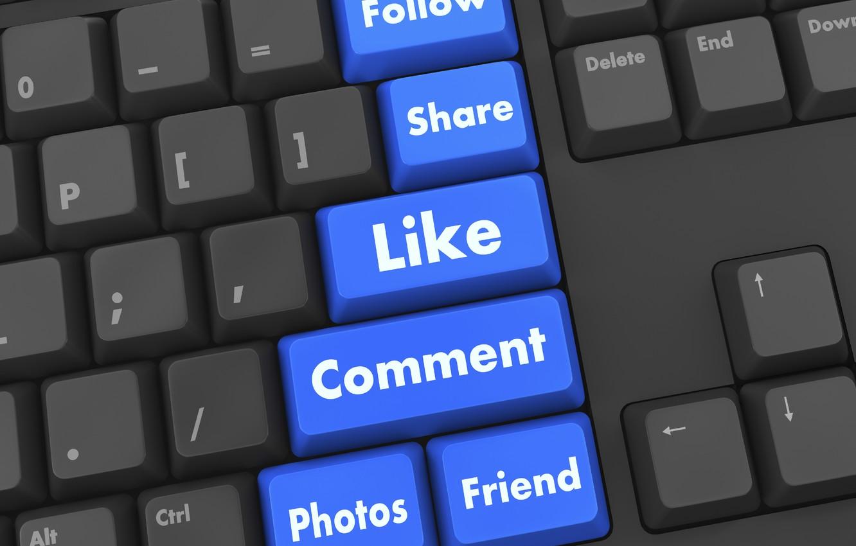 Photo wallpaper internet, keyboard, social networking