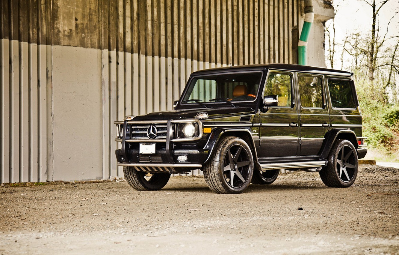 Photo wallpaper car, machine, black, tuning, SUV, mercedes, is, car, black, auto, tuning, wallpapers, benzo, Mercedes, kompressor, …