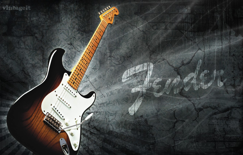 Wallpaper 1954 Fender Stratocaster Model Electric Guitar
