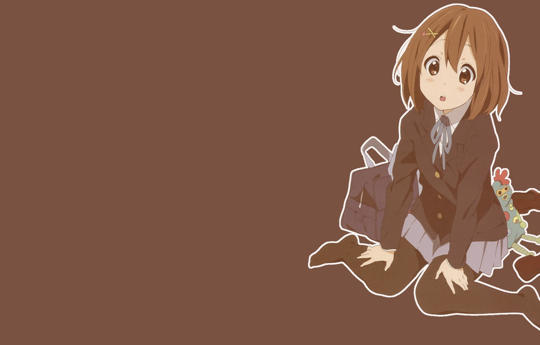 Photo wallpaper Red, Girl, Minimalism, White, Girl, Background, Anime, Anime, K-On, Dark, Manga, Kay-Oh!, TSU-tsuki, White trim
