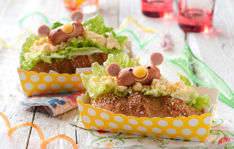 Wallpaper Cheese Cakes Sausage Hot Dog Fast Food Bun Salad Fast Food Baking Images For Desktop Section Eda Download