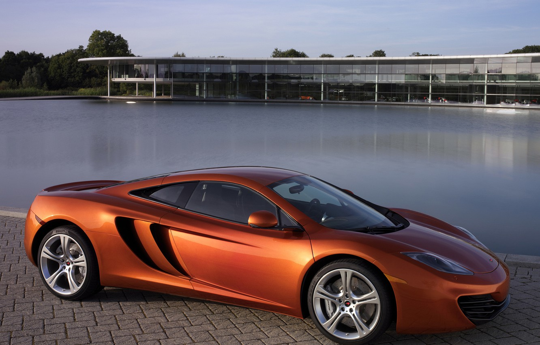 Photo wallpaper machine, auto, Wallpaper, McLaren, pool, MP4-12C, McLaren