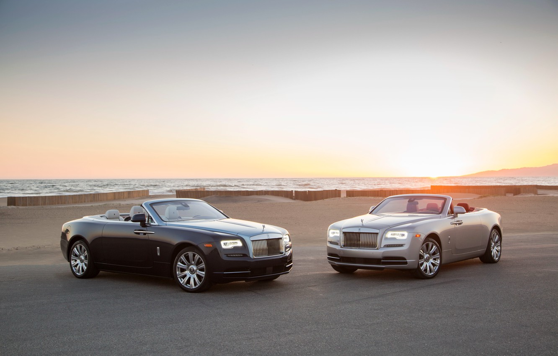 Photo wallpaper Rolls-Royce, convertible, Dawn, rolls-Royce, down