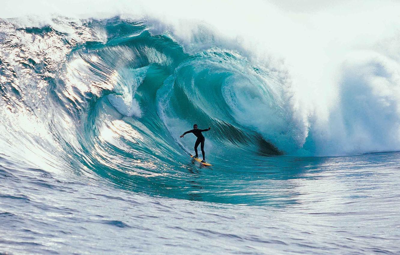 Photo wallpaper wave, speed, surfing