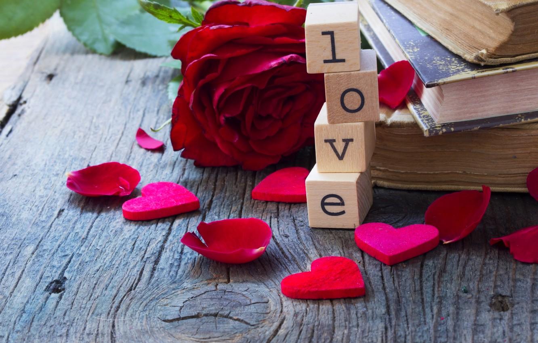 Photo wallpaper love, flowers, roses, red, love, rose, heart,