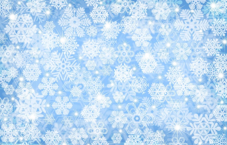 Photo wallpaper winter, snow, snowflakes