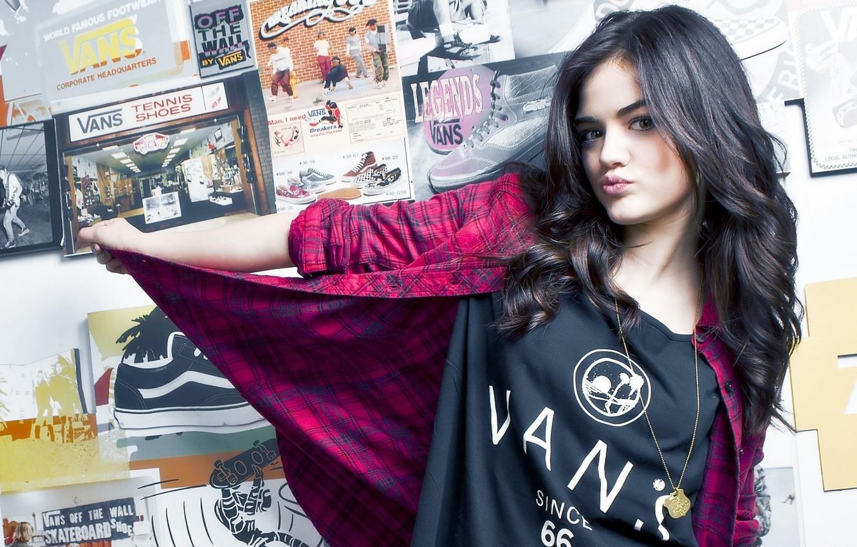 Photo wallpaper girl, actress, brunette, sponge, posters, Lucy Hale