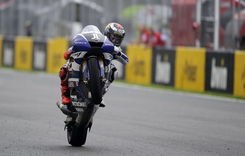 Photo wallpaper Photo, Race, Motorcycle, Racer, Track, Monster, Yamaha, Victory, MotoGP, Team, Scores, YZR-M1, Yamaha, Tech 3, …
