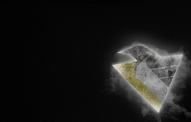 Photo wallpaper Penguins, Logo, Hockey, Pittsburgh