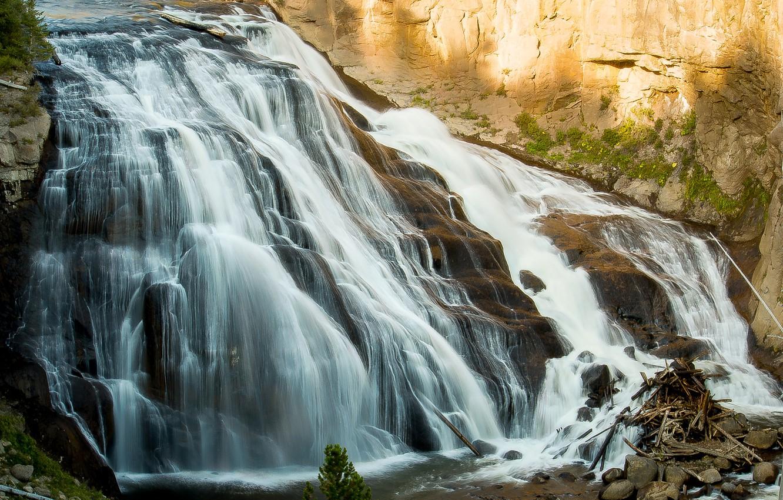 Photo wallpaper water, nature, rock, waterfall