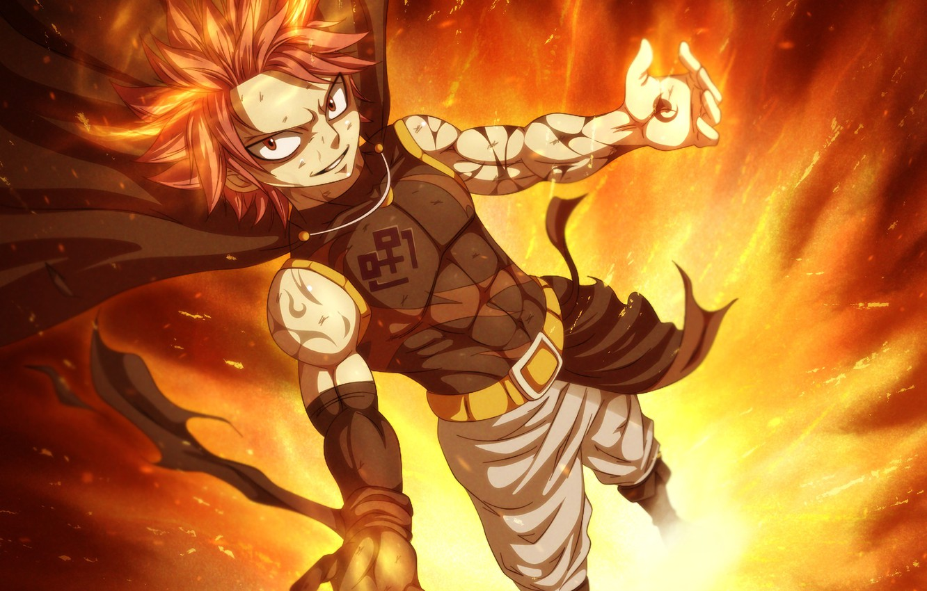 Wallpaper Mag Guy Anime Art Fairy Tail Natsu Dragneel