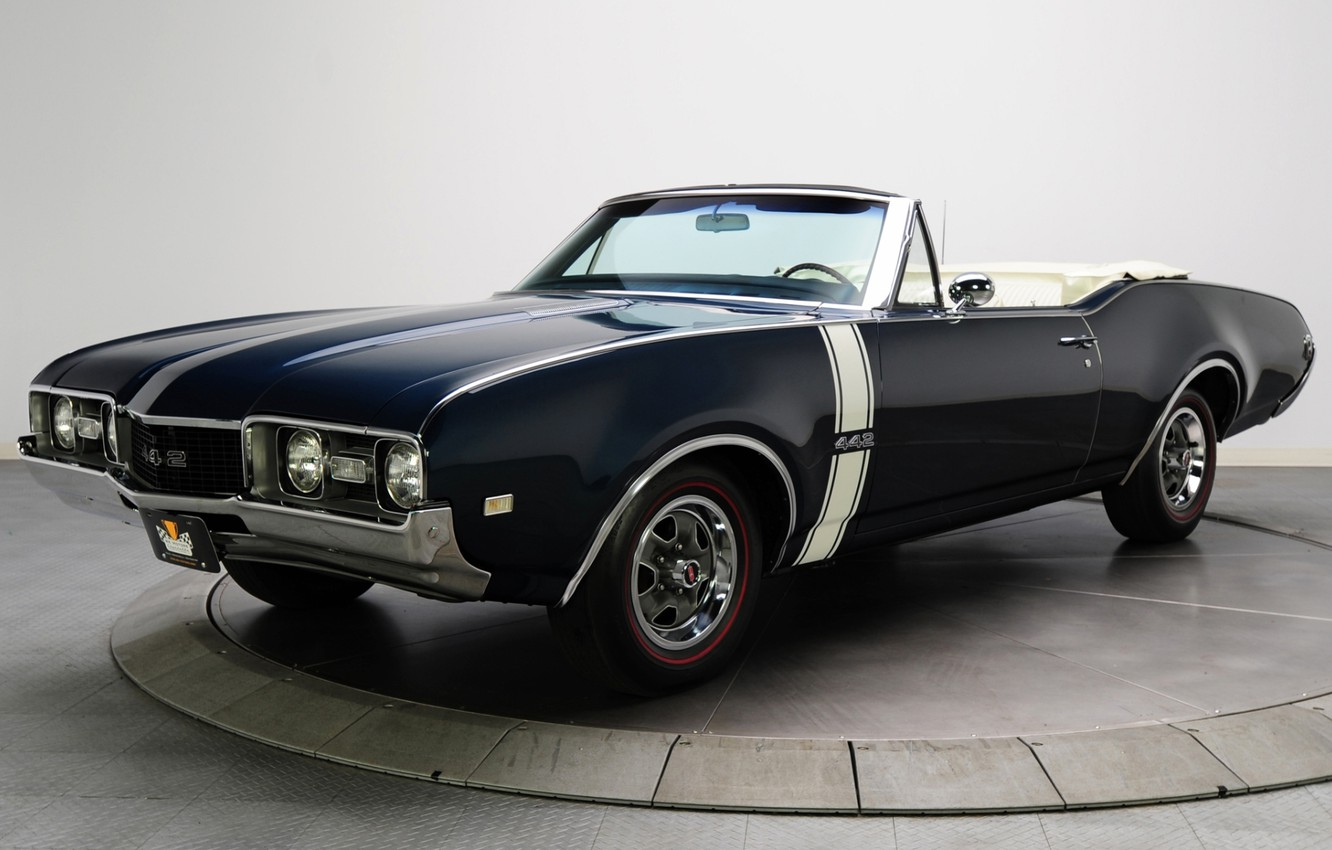 Photo wallpaper background, convertible, convertible, the front, 1968, Muscle car, Convertible, Muscle car, 442, Oldsmobile, The Oldsmobile