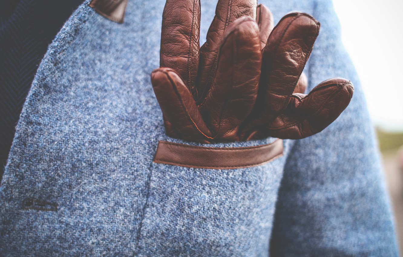 Photo wallpaper clothing, gloves, brown, coat