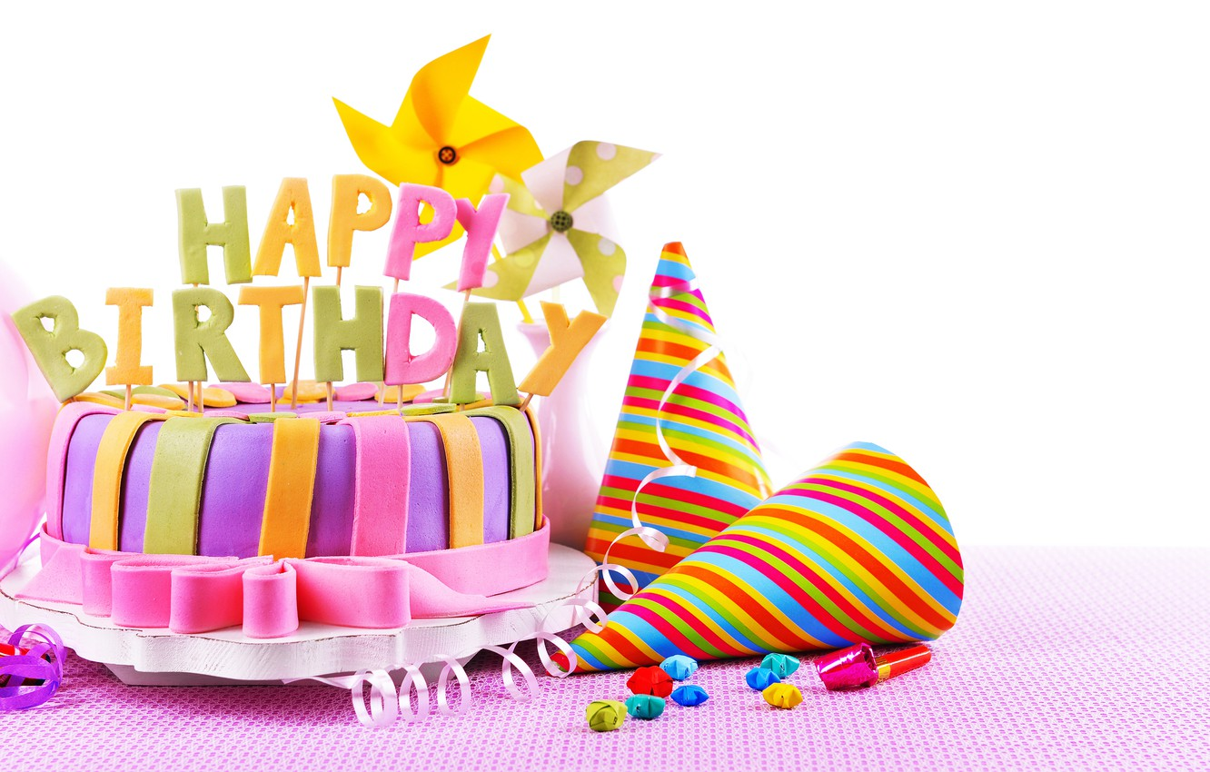 Photo wallpaper candles, cake, cake, sweet, decoration, Happy, Birthday, Birthday