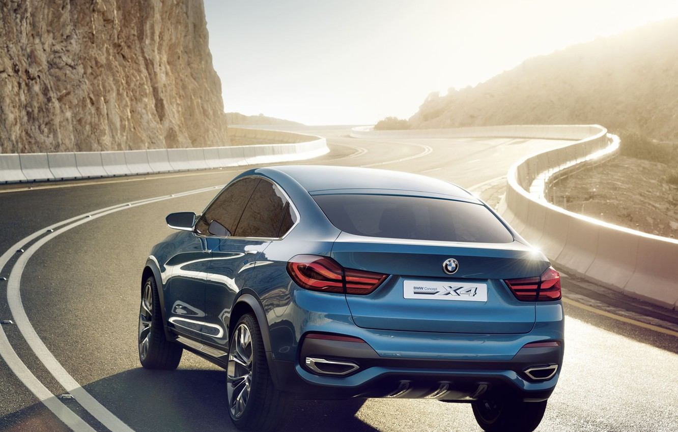 Photo wallpaper road, Concept, BMW, crossover, X4