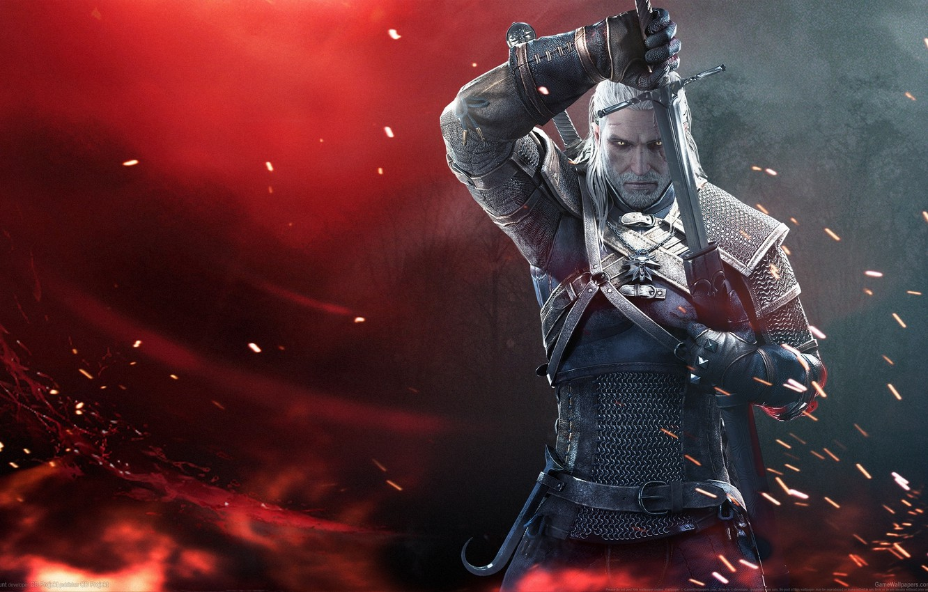 Photo wallpaper Sword, Warrior, Beard, Armor, The Witcher, The Witcher, Geralt, CD Projekt RED, The Witcher 3: …