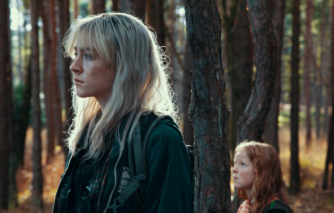 Photo wallpaper forest, trees, backpack, actress, Saoirse Ronan, Saoirse Ronan, How I Live Now, Harley Bird, Harley …