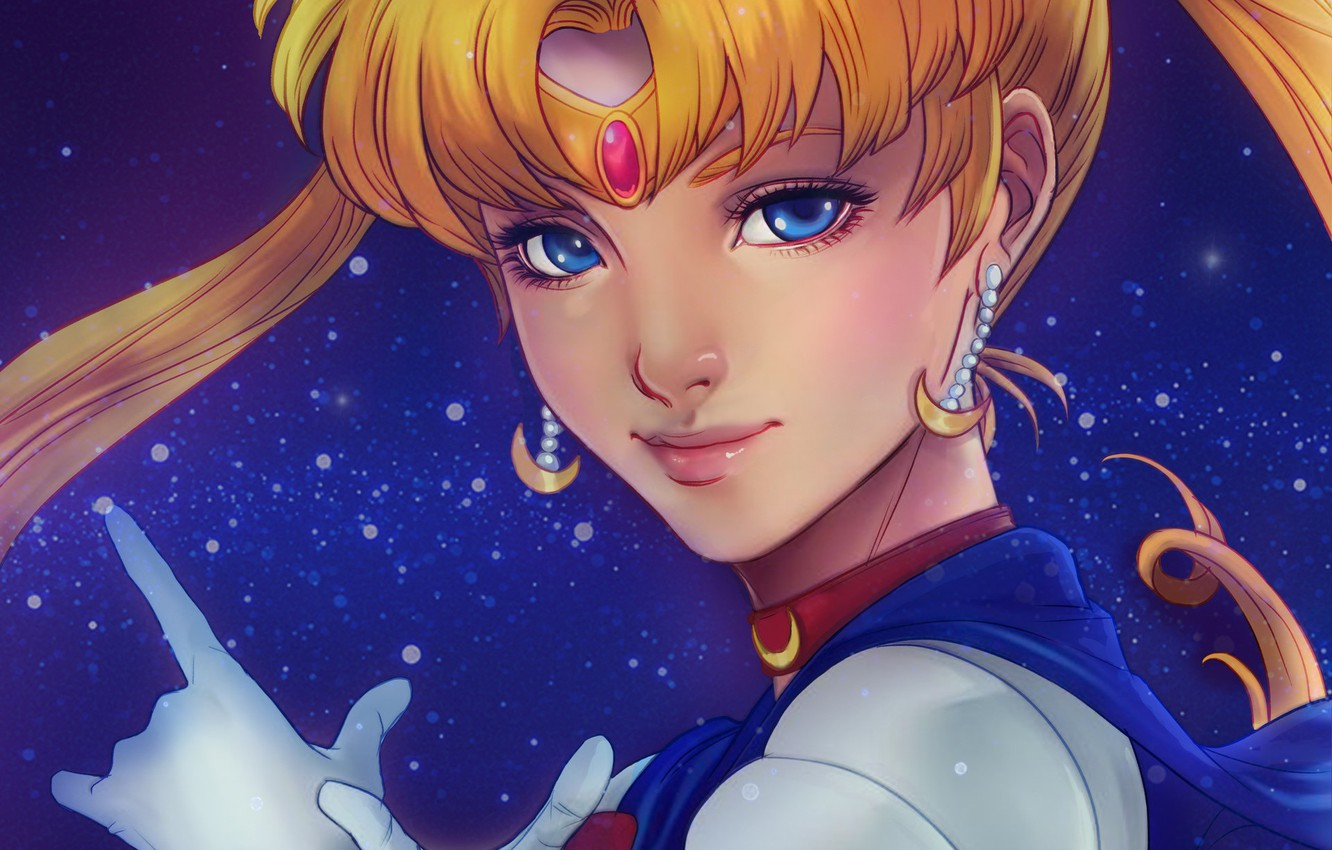 Photo wallpaper look, earrings, art, Sailor Moon, Sailor Moon
