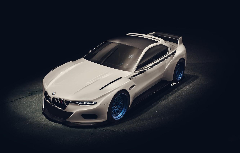 Photo wallpaper white, art, BMW 3.0 CSL Tribute