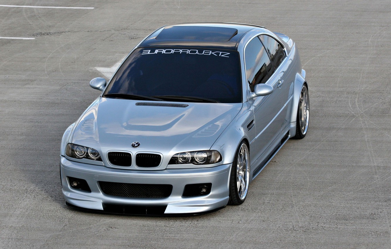 Photo wallpaper asphalt, BMW, car