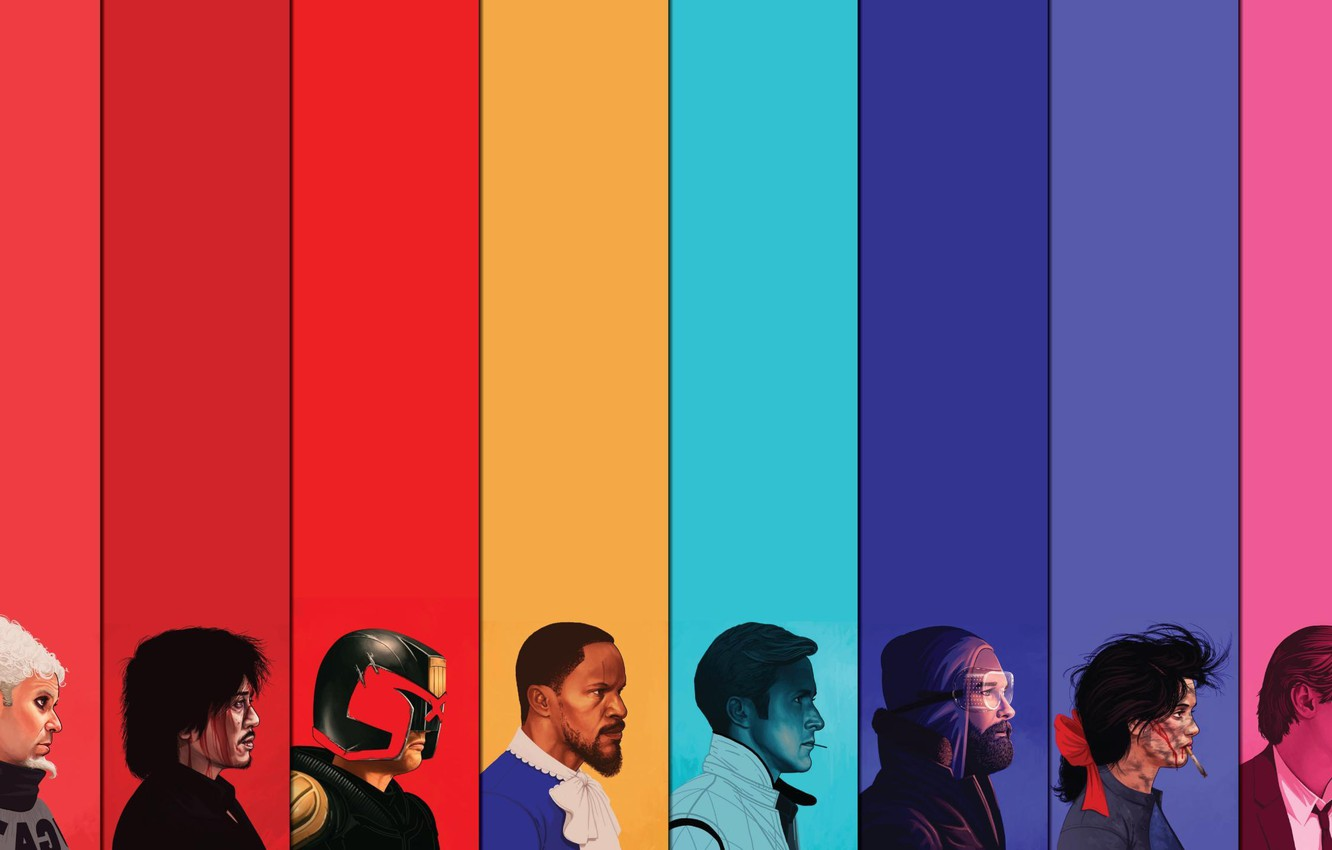 Wallpaper Reservoir Dogs The Thing Portraits Judge Dredd