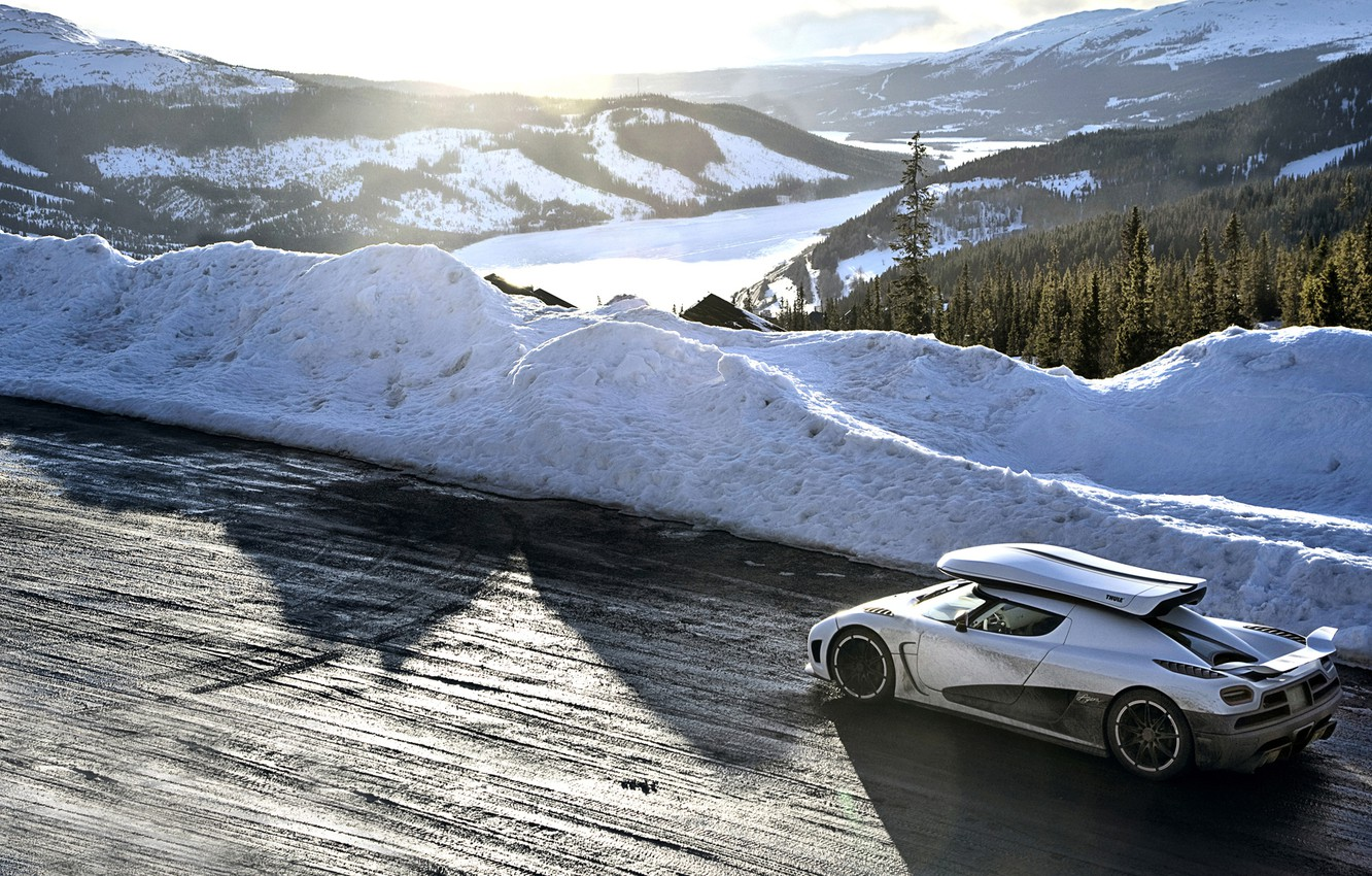 Photo wallpaper road, white, snow, mountains, Koenigsegg, Top Gear, supercar, the best TV show, top gear, top …