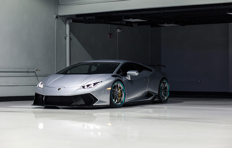Photo wallpaper Lamborghini, Vorsteiner, with, Kit, Huracan, Novara, HRE S201's