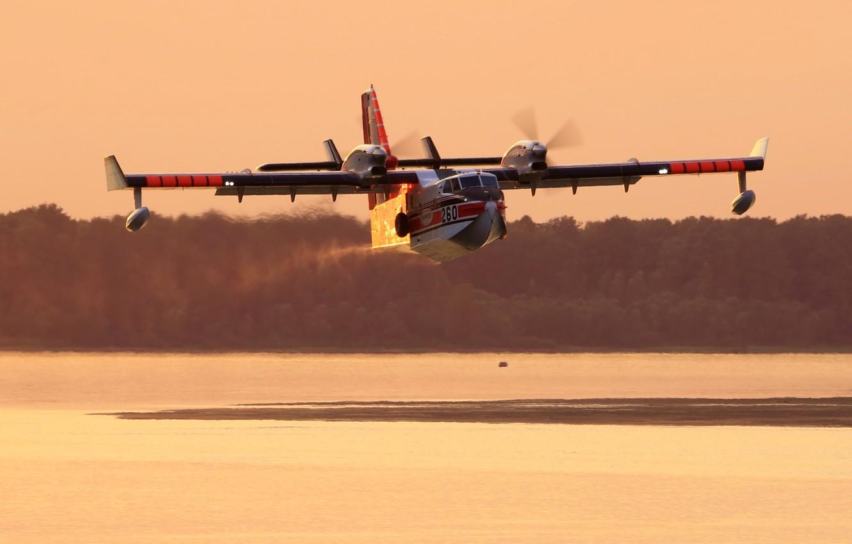 Обои амфибия, Bombardier, Самолёт, Вода. Авиация foto 10