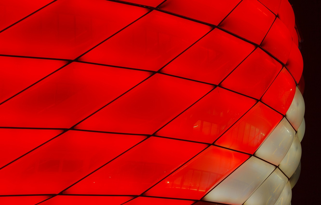 Photo wallpaper macro, lights, color, Munich, the Allianz arena