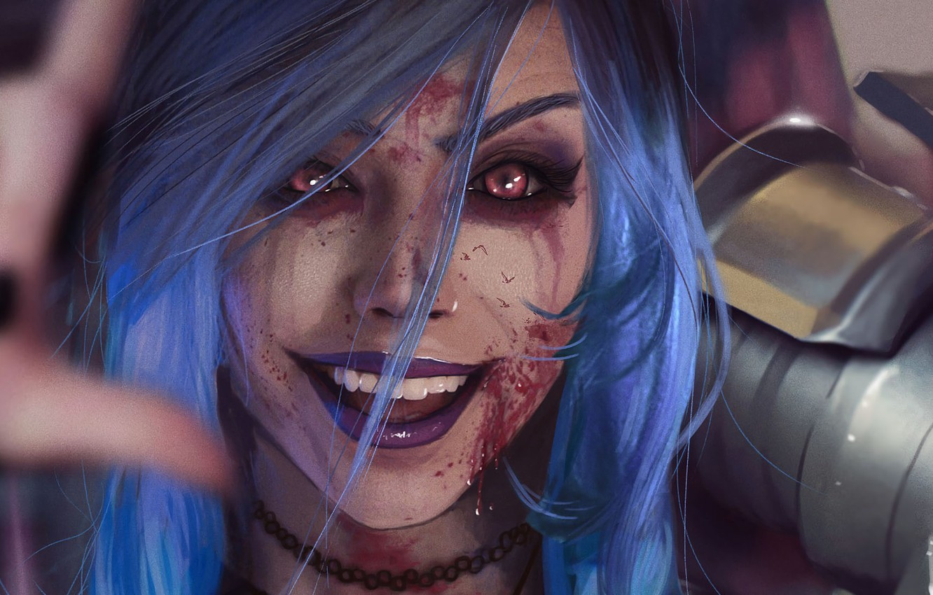 Photo wallpaper wallpaper, girl, blood, armor, red eyes, pretty, face, League of Legends, eye, hand, warrior, pretty …