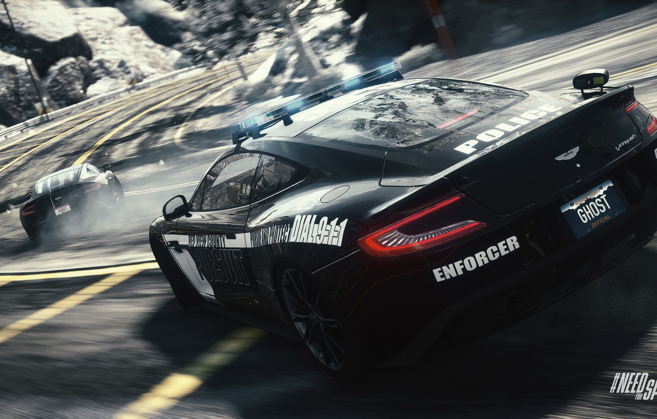 Wallpaper Road Turn Skid Need For Speed Rivals Cop Aston