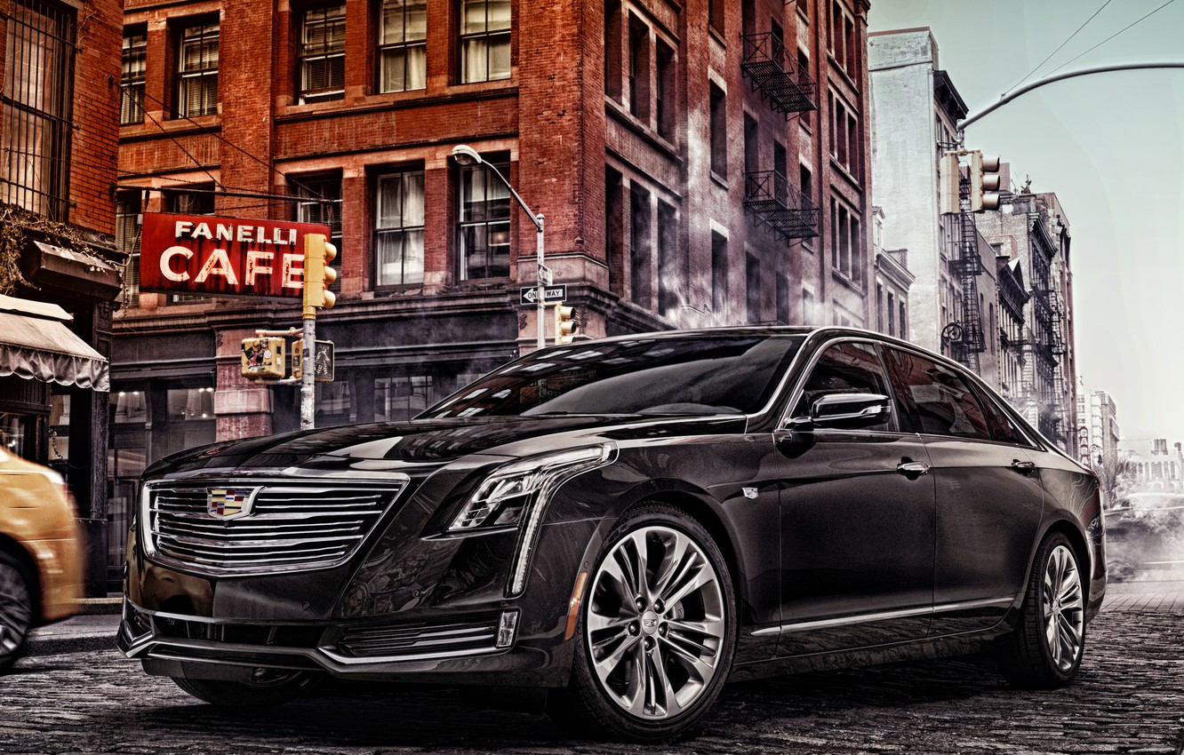 Photo wallpaper the city, street, Cadillac, sedan, Cadillac, CT6