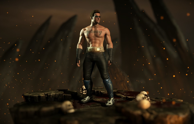 Wallpaper Johnny Cage, Mortal Kombat X, Mortal Kombat 10
