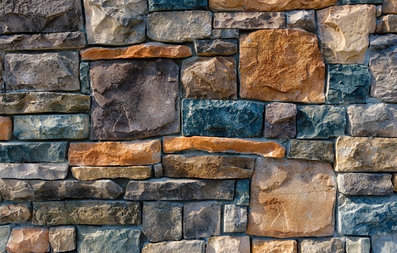 Photo wallpaper wall, stone, colorful pattern