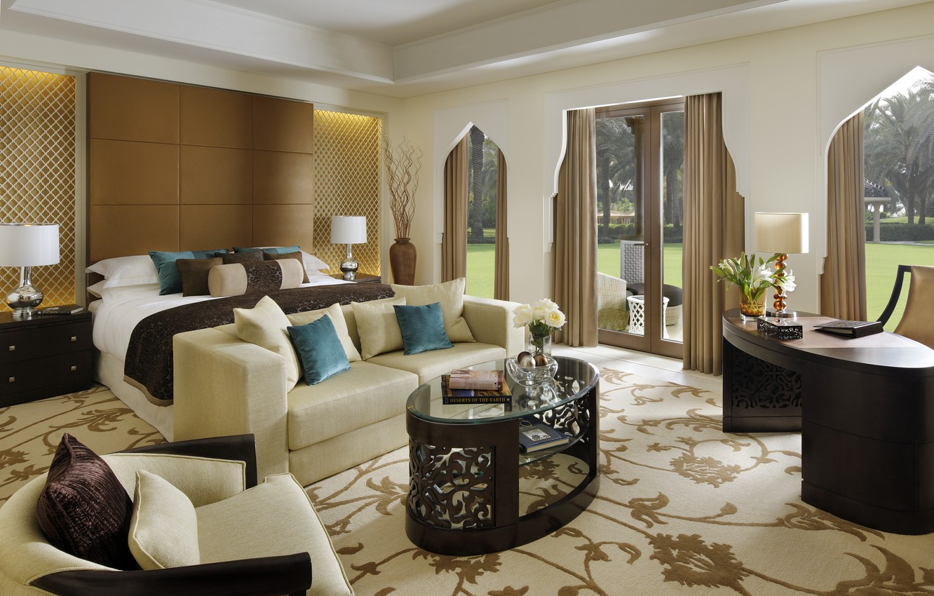Photo wallpaper design, style, room, interior, terrace, premiere room with terrace