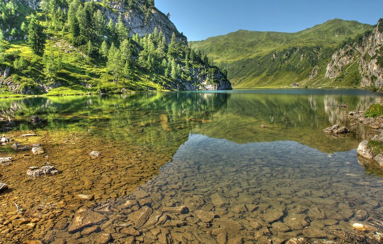 Photo wallpaper mountains, lake, Austria, Alps, Austria, Republic Of Austria