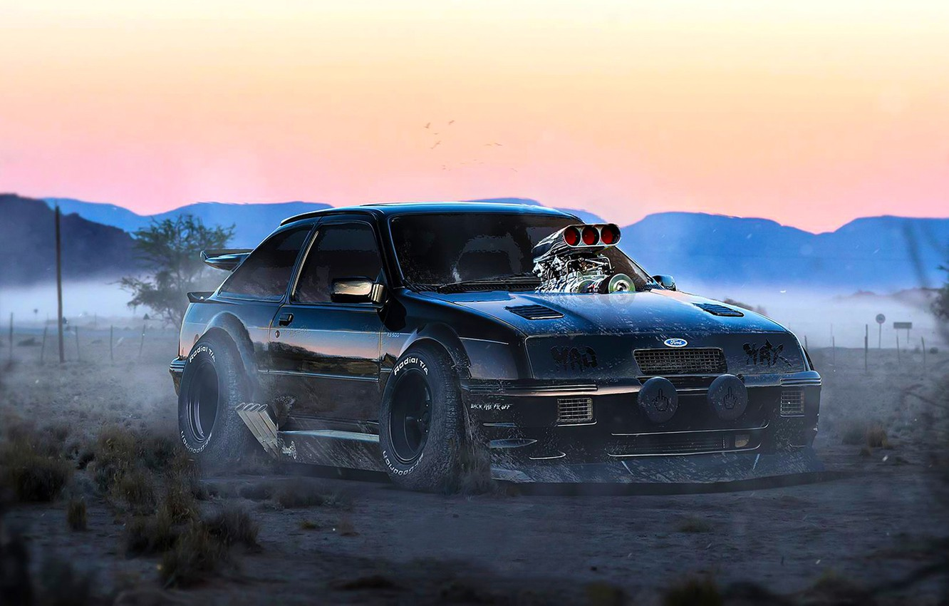 Photo wallpaper Ford, Tuning, Future, Mad Max, Escort, RS500, by Khyzyl Saleem, Cozzie
