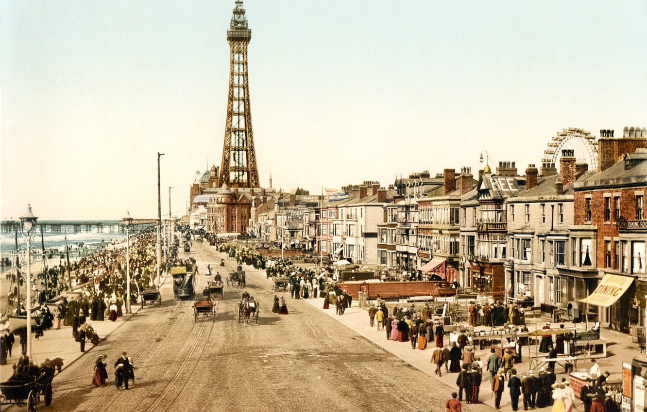 Wallpaper The City, Retro, Street, England, Old Photo