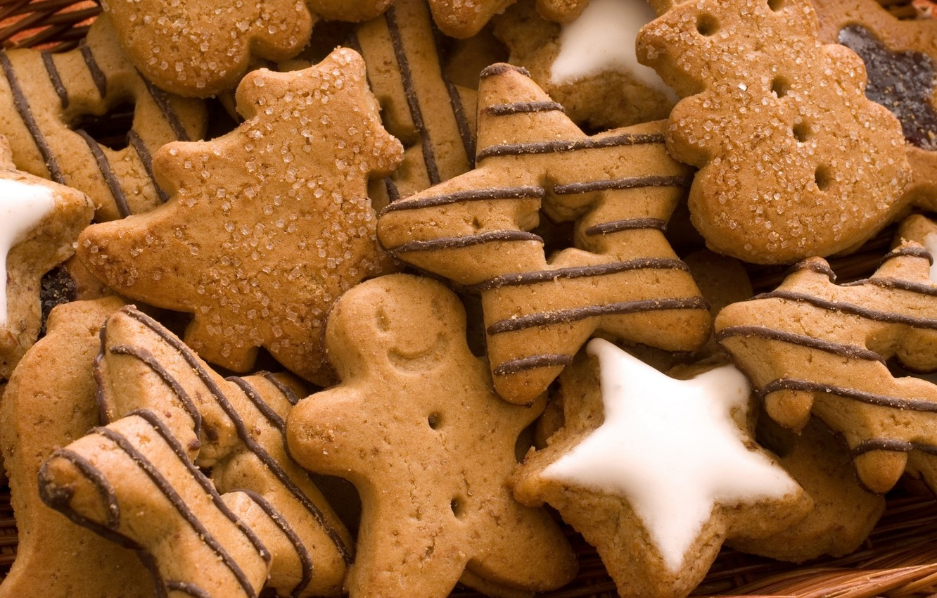 Photo wallpaper food, cookies, sweets, stars, pastry, cakes