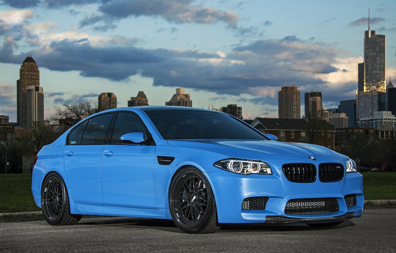 Photo wallpaper black, blue, BMW, BMW, drives, f10, BBC, Yas Marina Blue