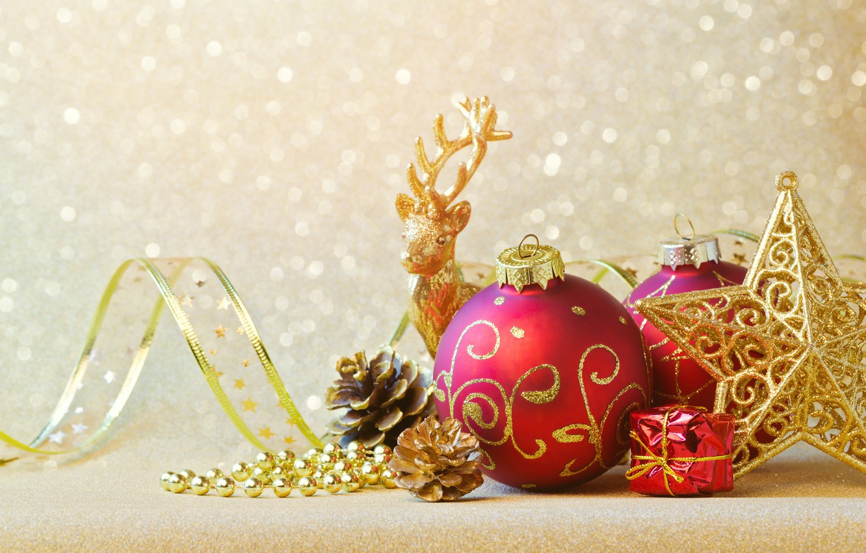 Photo wallpaper decoration, balls, New Year, Christmas, Christmas, balls, decoration, Merry