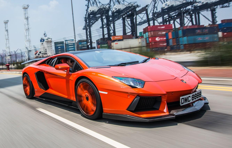 Photo wallpaper road, movement, tuning, Lamborghini, front view, aventador, Molto Veloce, Aventador LP900-4